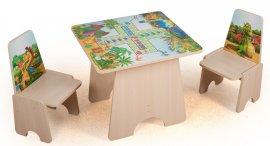 Игровой столик Динозавры +2 стульчика