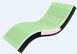 Односпальный матрас 3D Neo Green - 90x200 см