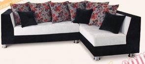 Кожаный угловой диван NEW