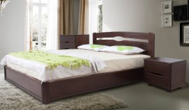 Полуторная кровать Каролина Мария (ящики или под.механизм на выбор) - 140 см