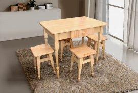Комплект кухонный Смарт (стол+4 табурета)