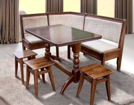 Мягкий комплект Семейный (уголок, стол+3 табурета)