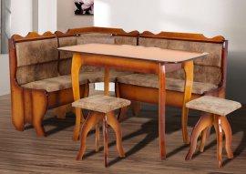 Комплект Даллас (уголок, стол+2 табурета)