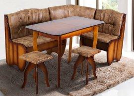 Комплект Канзас (уголок, стол+2 табурета)