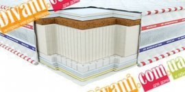 Безпружинный матрас 3D Галант кокос-латекс - 90x200 см