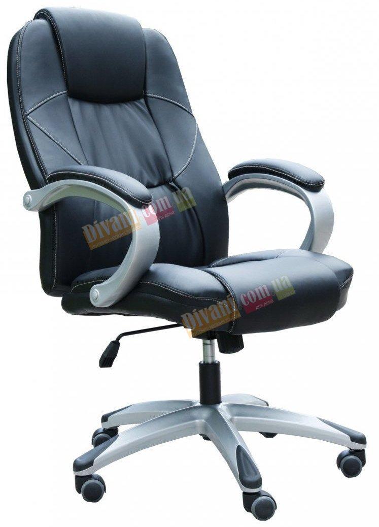 Кресло руководителя Z-059 черное с пластиковой основой
