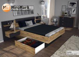 Кровать 1,8 Луна (мягкая спинка, с тумбами и каркасом)