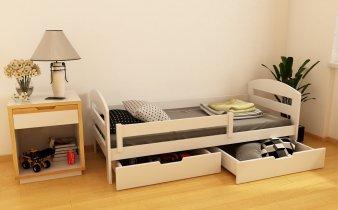 Детская кровать Винни массив 90х190/200 см