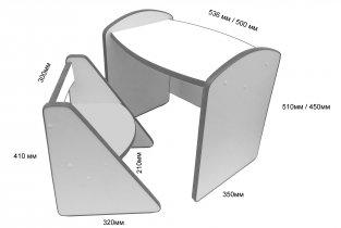Столик детский + стульчик DoDo