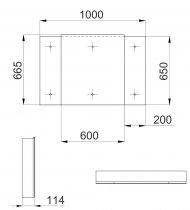 Галерея зеркальная Эверест Zoom 100 серая без подсветки, 3F