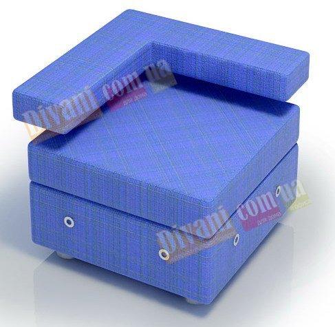 Модульный диван Тетрис - Пуф с угловой спинкой