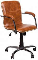Кресло для руководителя Самба-RC каркас хром софт