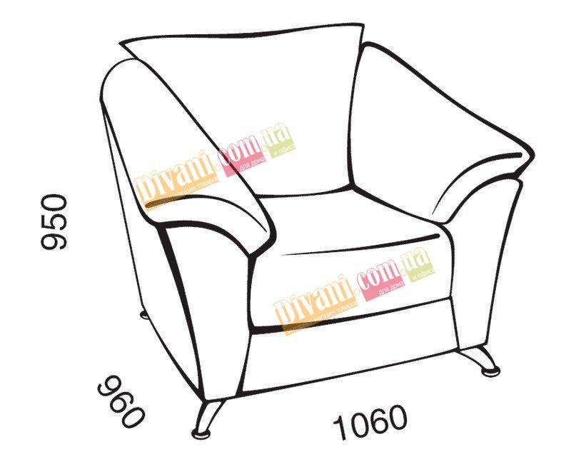 Кресло Аматис - 7737 грн. - Купить дешево диваны в Украине - недорогой интернет-магазин Divani.ua