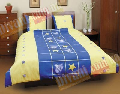 Полуторный комплект постельного белья Звезда ракушка -505