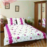 Полуторный комплект постельного белья Красная розалия -577