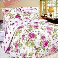 Полуторный комплект постельного белья Розовая георгина -620