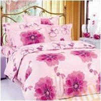 Полуторный комплект постельного белья Розовая азалия -635