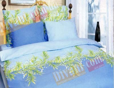 Полуторный комплект постельного белья Голубой ландыш -653