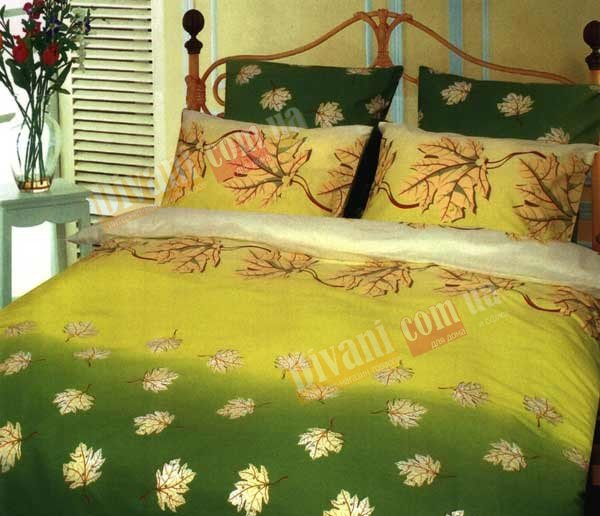 Полуторный комплект постельного белья Кленовый лист -656
