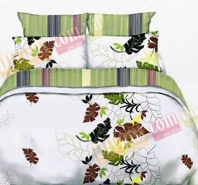 Полуторный комплект постельного белья Лист комби -728