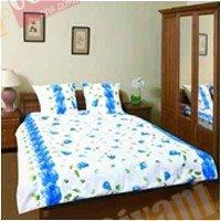 Евро комплект постельного белья Синяя розалия -579