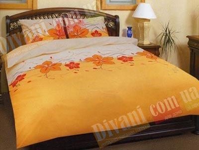Евро комплект постельного белья Пятилистник -581