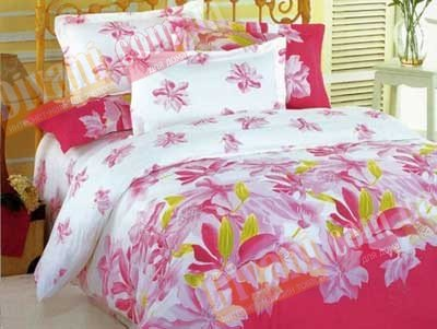 Евро комплект постельного белья Розовая орхидея -599