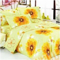 Евро комплект постельного белья Желтая азалия -636
