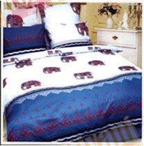Евро комплект постельного белья Голубые слонята -649