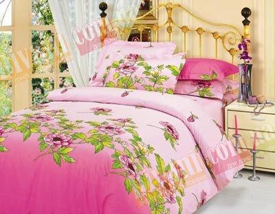 Евро комплект постельного белья Розовая клеопатра -711