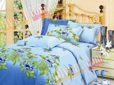 Евро комплект постельного белья Голубая клеопатра -713
