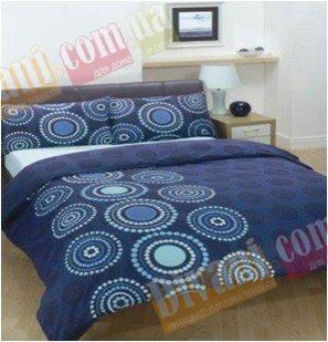 Евро комплект постельного белья Африкана синяя -724