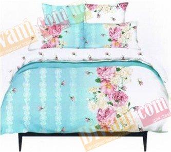 Евро комплект постельного белья Соцветие -730