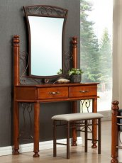 Будуарный стол + зеркало + пуф Бавария