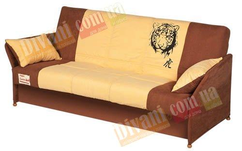 Диван-кровать Fusion Comfort B Бонель - Y каркас с подлокотником в тканевом чехле, с деревянными ножками
