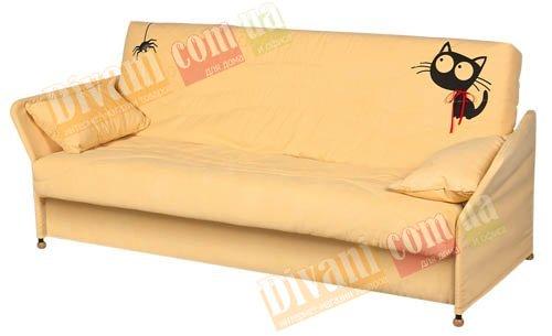 Диван -кровать Fusion Comfort P Pocket Springs - Y каркас с подлокотником в тканевом чехле, с деревянными ножками