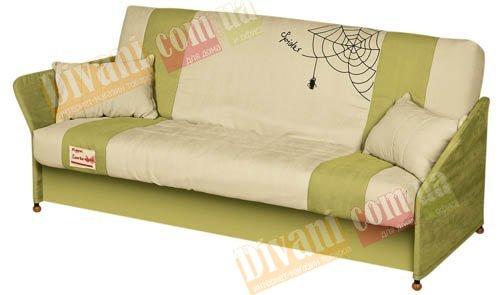 Диван-кровать Fusion Comfort Y каркас с подлокотником в тканевом чехле, с деревянными ножками