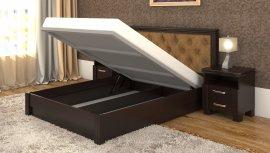 Полуторная кровать Маргарита дерево c механизмом - 140x200см