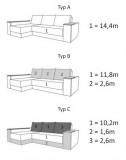 Угловой диван Атика