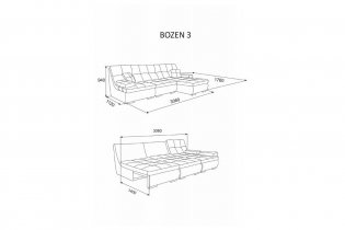 Угловой диван Бозен-3