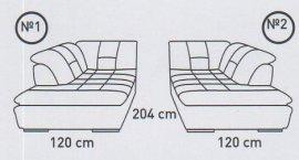 Модуль №1,2 к кожаному модульному дивану Мегапол