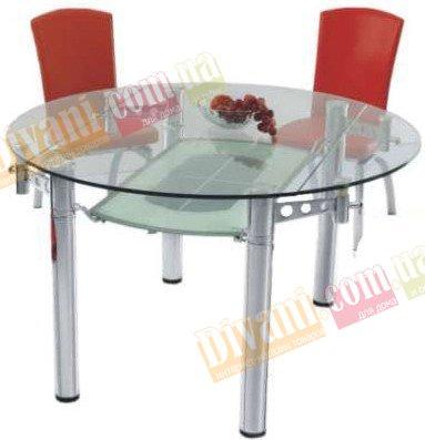 Стол стеклянный раскладной 609-C