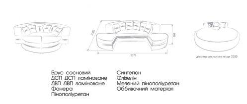 Двуспальная кровать Ларго  - E