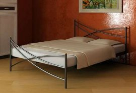 Полуторная кровать Liana 2 - 140 см с высокой спинкой у ног