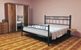 Полуторная кровать Эсмеральда 2 - 140см с низкой спинкой у ног