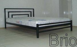 Односпальная кровать Brio 2 - 90 см с высокой спинкой у ног