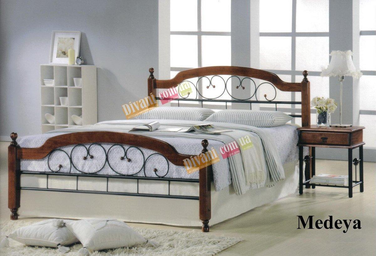 Кровать Onder Metal Metal&Wood MEDEYA 200x140см