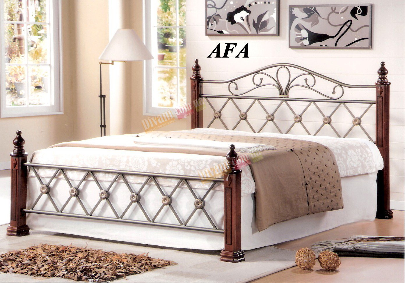 Кровать Onder Metal Metal&Wood AFA 200x160см