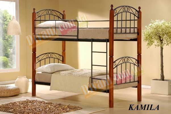 Кровать двухярусная Onder Metal Metal&Wood KAMILA 190x90см