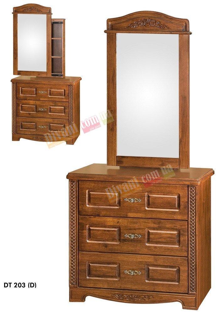 Туалетный столик с зеркалом Onder Metal Wood Beds DT 203 (D) with box